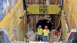 Trench Shoring Company & Trautwein Construction Inc. Sewer Replacement Project
