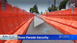 Trench Shoring Company K-Rails for Security at Pasadena Rose Parade